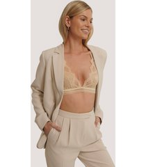 na-kd lingerie spets-bh - beige