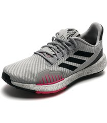 tenis running gris-negro-fucsia adidas performance pulse boost hd wntr w