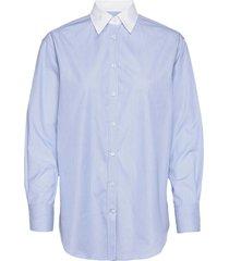 8753 - nube c overhemd met lange mouwen blauw sand