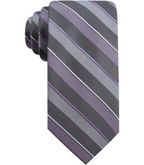 ryan seacrest distinction men's bragg slim stripe tie, created for macy's