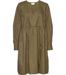 stellagz solid dress ms20 jurk knielengte groen gestuz