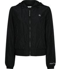 hooded zip through jacket
