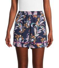 bcbgmaxazria women's paisley-print pajama shorts - paisley - size xxs