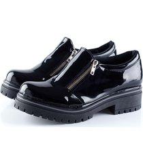 zapato negro duo bai