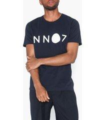 nn.07 ethan logo 3208 t-shirts & linnen navy blue