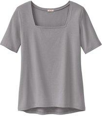carré-shirt van bio-katoen, zilvergrijs 46
