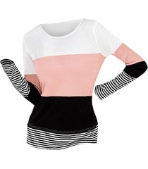 colorblock stripes patchwork office top