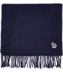 ps paul smith men's zebra badge scarf - blue