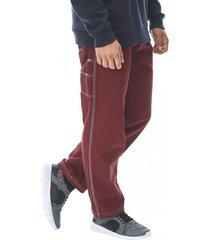 jeans slim stiching rojo corona