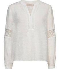 aviecr blouse blus långärmad vit cream