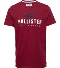 core tech t-shirts short-sleeved röd hollister