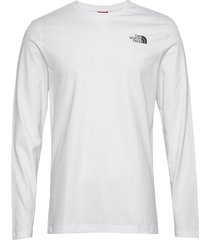 m l/s nf tee t-shirts long-sleeved vit the north face