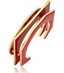 bracelete esmaltado - rincawesky - marsala