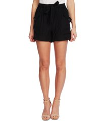 cece tie-front pull-on paperbag shorts
