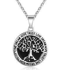 collana ciondolo moda in acciaio al titanio collana wishing tree tree of life con ciondolo per uomo
