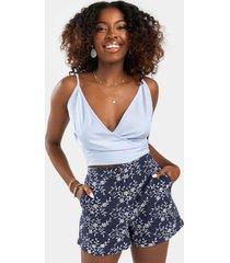 emma daisy print shorts - navy