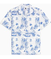 mens white island revere shirt