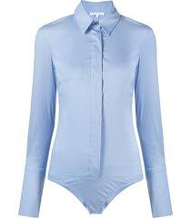 patrizia pepe shirt bodysuit - blue