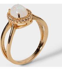 sariyah opal criss cross ring - iridescent