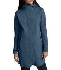 women's canada goose salida waterproof rain jacket, size medium - blue