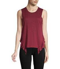 ruffle-trimmed tank top