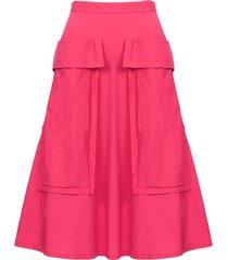 bardot skirt, hot pink