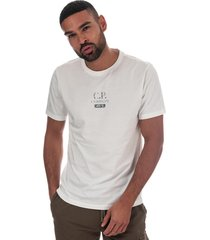c.p. company mens jersey button print t-shirt size 3xl in white
