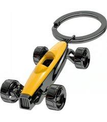 llavero carro f1 estilo europeo detalle galvanizado mtm- amarillo