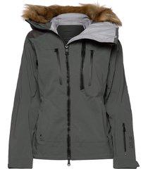 kamya outerwear sport jackets padded jacket groen tenson
