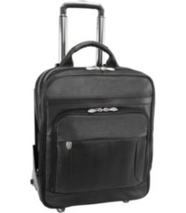 "mcklein wicker park 17"" wheeled laptop briefcase"