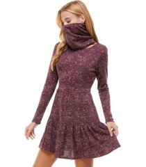 be bop juniors' paisley tiered dress & face mask scarf