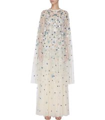 'wildflower' sequin embroidered midaxi cape