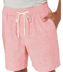 "nautica men's classic-fit 7"" chambray boardwalk shorts"