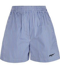 msgm stripe print shorts