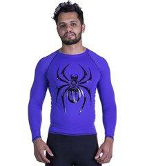 rashguard manga longa spider black widow