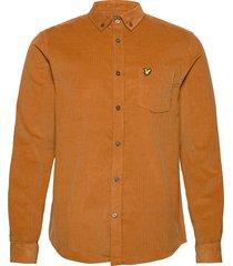 needle cord shirt overhemd casual bruin lyle & scott