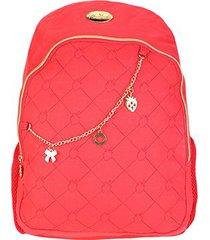 mochila escolar infantil luxcel moranguinho com acessórios - feminino