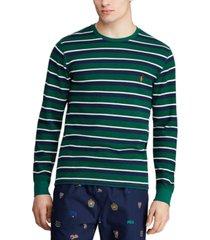 polo ralph lauren men's multi-stripe waffle pajama shirt