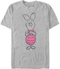 fifth sun men's basic sketch piglet short sleeve t-shirt
