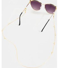 charlette convertible sunglasses & face mask chain - gold
