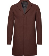 slhbrove wool coat b wollen jas lange jas bruin selected homme