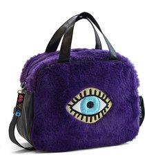 bolso violeta back up ojo turco