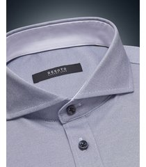 desoto luxury line heren overhemd blue cutaway jersey slim fit blauw