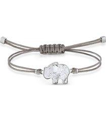 pulsera swarovski power collection elephant, gris, acero inoxidable