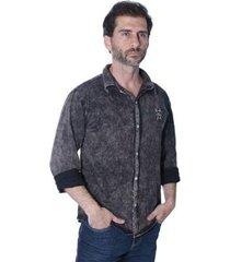 camisa manga longa new york polo club super slim masculina