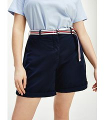 tommy hilfiger women's curve belted chino short desert sky - 20