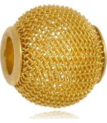 berloque boca santa semijoias separadores entrelaçados  ouro amarelo
