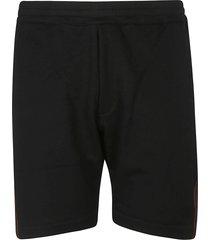alexander mcqueen side striped shorts