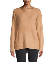 ribbed long-sleeve sweater
