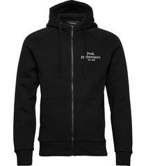 m original zip hood hoodie trui zwart peak performance